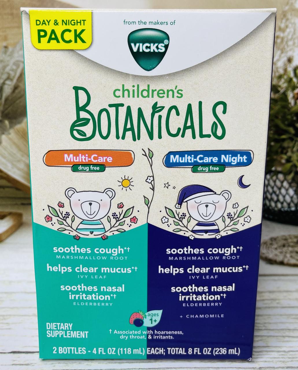 Дитячі сиропи від кашлю та застуди Vicks children's Botanicals