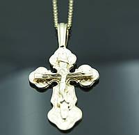 Ювелирные кресты с распятием на цепочке. Позолоченная бижутерия FJ Fallon. 9