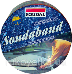 Битумная(Лента)Монтажная 100 мм х 10м Алюминий SOUDABAND Для Кровельных Работ