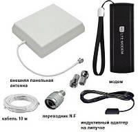 2G/3G/4G USB Wi-Fi модем + антена панельна 8 дБ + антенний адаптер + кабель та перехідники, фото 1