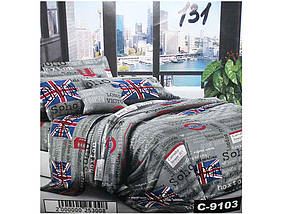 Комплект постільної білизни 2 спальний 70*70 полібязь 3Д арт.131 ТМ Constancy
