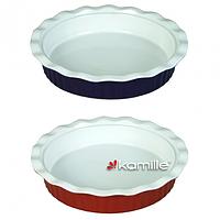Форма керамическая для запекания 1.3л (Ø27*5.5см; красная, фиолетовая)