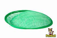 Основа Синамей для шляпки, вуалетки Зеленая 19x20 см