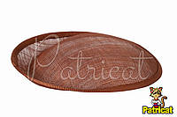 Основа Синамей для шляпки, вуалетки Коричневая 19x20 см