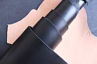 Натуральная кожа для обуви и кожгалантереи черная, толщина 1.4 мм, арт. СК 1036