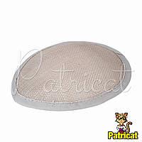 Основа Синамей для шляпки, вуалетки каплевидная Светло-серая 10.5x13.5 см