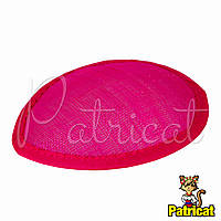 Основа Синамей для шляпки, вуалетки каплевидная Розовая 10.5x13.5 см