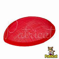 Основа Синамей для шляпки, вуалетки каплевидная Красная 10.5x13.5 см