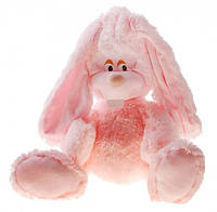 Розовая мягкая игрушка Заяц Лаврик