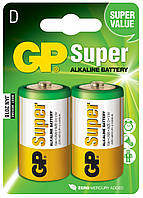 Батарейка GP 13А-U2 Super alkaline LR20 D (блистер, 20/160)