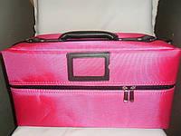 Кейс для визажистов,парикмахером и мастеров маникюра,розовый
