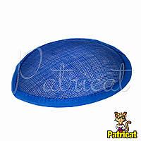 Основа Синамей для шляпки, вуалетки каплевидная Голубой 10.5x13.5 см, фото 1