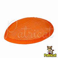 Основа Синамей для шляпки, вуалетки каплевидная Оранжевая 10.5x13.5 см
