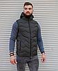 Утеплённая мужская жилетка со съёмным капюшоном хаки цвета   100% нейлон + синтепон 150, фото 4