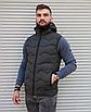 Утеплённая мужская жилетка со съёмным капюшоном хаки цвета   100% нейлон + синтепон 150, фото 5