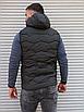 Утеплённая мужская жилетка со съёмным капюшоном хаки цвета   100% нейлон + синтепон 150, фото 7