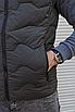 Утеплённая мужская жилетка со съёмным капюшоном хаки цвета   100% нейлон + синтепон 150, фото 8