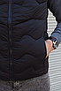 Чёрная утеплённая мужская жилетка со съёмным капюшоном | 100% нейлон + синтепон 150, фото 8