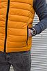 Жёлтая утеплённая мужская жилетка со съёмным капюшоном   100% нейлон + синтепон 150, фото 8