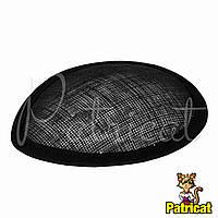 Основа Синамей для шляпки, вуалетки каплевидная Черная 10.5x13.5 см
