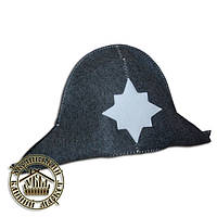"""""""Наполеон"""", шапка для бани (полушерсть)"""