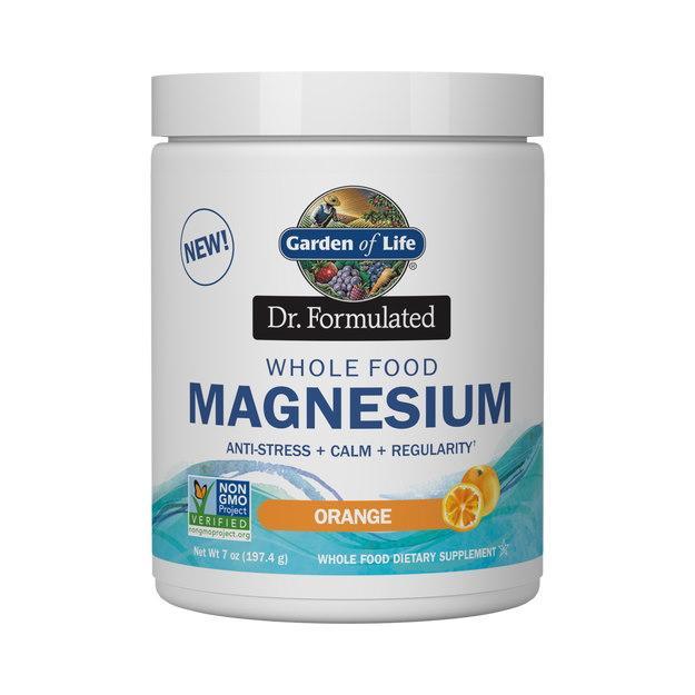 Вітаміни і мінерали Garden of Life Dr. Formulated Whole Food Magnesium, 197.4 грам Апельсин