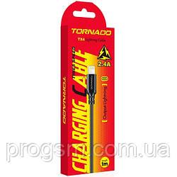Кабель Tornado Tx4 Nylon (Usb To Lightning, 1M, 3A)