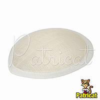 Основа Синамей для шляпки, вуалетки каплевидная Молочная 10.5x13.5 см