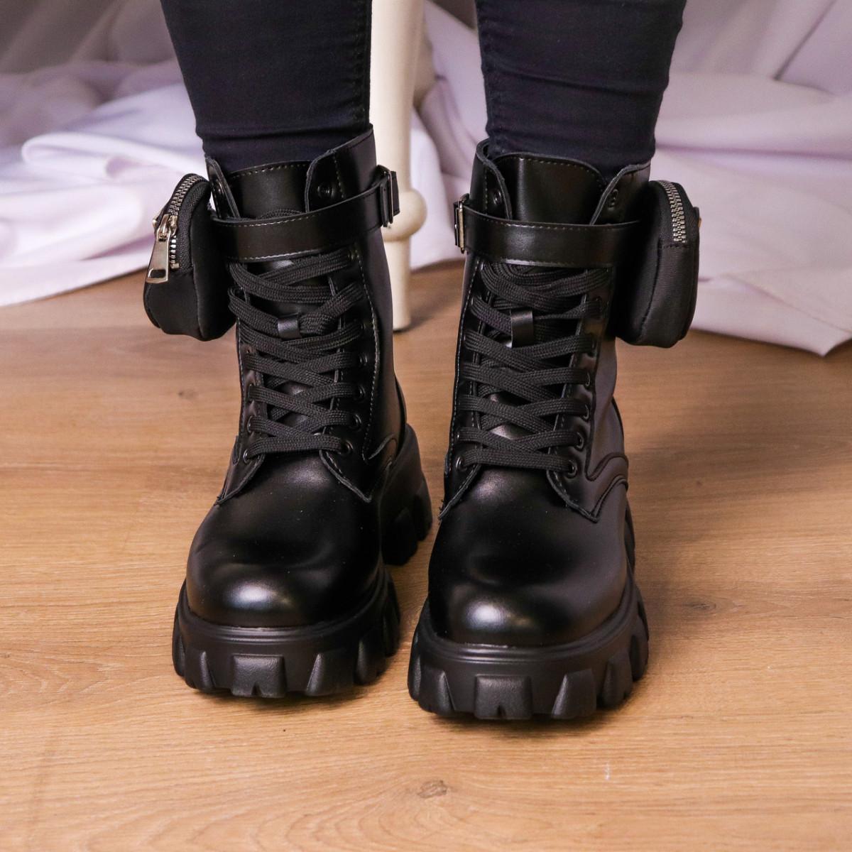 Черевики жіночі Fashion Sondra 2401 37 розмір 23,5 см Чорний