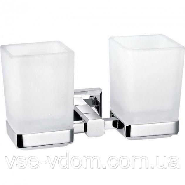 Стакан для ванной Perfect Sanitary Appliances 9928A квадратный двойной стекло латунь