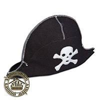 """""""Пират"""", шапка для бани и сауны, натуральная шерсть (черная)"""