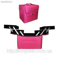 Чемодан для визажистов,маникюристов и парикмахеров, розовый