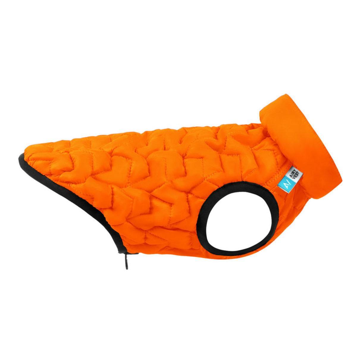 Курточка двусторонняя AiryVest UNI, размер XS 28, оранжево-черная
