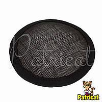 Основа Синамей для шляпки, вуалетки круглая Черная 10 см