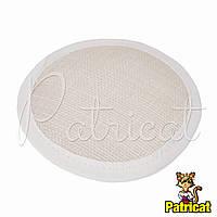 Основа Синамей для шляпки, вуалетки круглая Белая 10 см