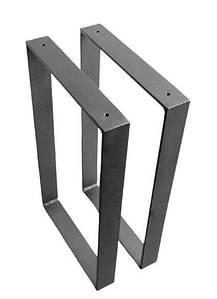 Ножки для стола металлические прямоугольные 600*720*50 мм EK Loft  Н 0001 2 шт Черные