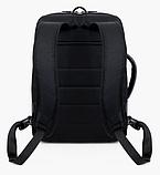 Рюкзак-сумка чорний в стилі Bobby, фото 3
