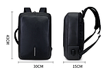 Рюкзак-сумка черный в стиле Bobby, фото 4