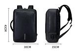 Рюкзак-сумка чорний в стилі Bobby, фото 4