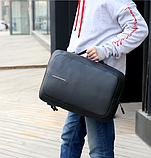 Рюкзак-сумка чорний в стилі Bobby, фото 5