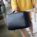 Рюкзак-сумка чорний в стилі Bobby, фото 6