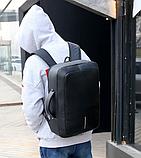 Рюкзак-сумка чорний в стилі Bobby, фото 7