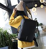 Рюкзак-сумка черный в стиле Bobby, фото 8