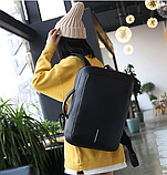 Рюкзак-сумка чорний в стилі Bobby, фото 8