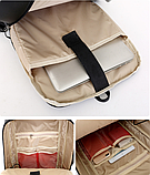 Рюкзак-сумка чорний в стилі Bobby, фото 9