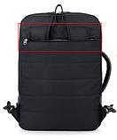 Рюкзак-сумка чорний в стилі Bobby, фото 10