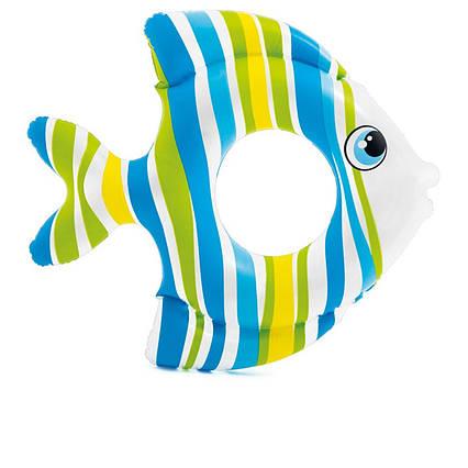 Intex надувний круг 59223 «Рибка», 83 х 81 см, блакитний