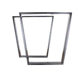 Ніжки для столу металеві трапеція 600*720*50 мм EK Loft Н 0002 2 шт Чорні
