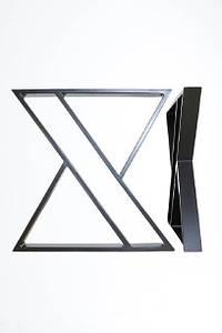 Ножки для стола металлические 600*720*50 мм EK Loft Н 0004 2 шт Черные