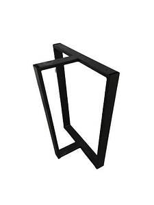 Ножки для стола металлические 600*720*50 мм EK Loft Н 0011 2 шт Черные